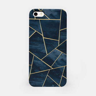 Thumbnail image of Dark Midnight Navy Blue Gold Geometric Glam #1 #geo #decor #art  iPhone-Hülle, Live Heroes