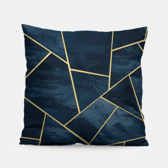 Thumbnail image of Dark Midnight Navy Blue Gold Geometric Glam #1 #geo #decor #art  Kissen, Live Heroes