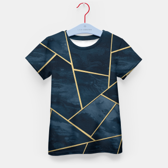 Thumbnail image of Dark Midnight Navy Blue Gold Geometric Glam #1 #geo #decor #art  T-Shirt für kinder, Live Heroes