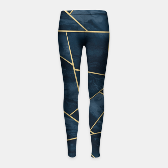 Thumbnail image of Dark Midnight Navy Blue Gold Geometric Glam #1 #geo #decor #art  Kinder-Leggins, Live Heroes