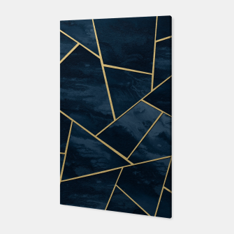 Thumbnail image of Dark Midnight Navy Blue Gold Geometric Glam #1 #geo #decor #art  Canvas, Live Heroes