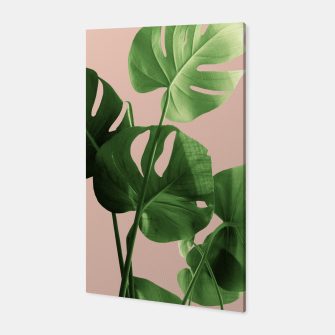 Thumbnail image of Monstera Leaves Pale Terracotta Vibes #1 #minimal #decor #art  Canvas, Live Heroes