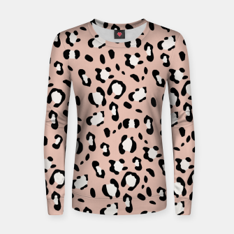 Thumbnail image of Leopard Animal Print Glam #12 #pattern #decor #art  Frauen sweatshirt, Live Heroes