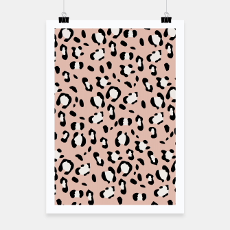 Miniatur Leopard Animal Print Glam #12 #pattern #decor #art  Plakat, Live Heroes