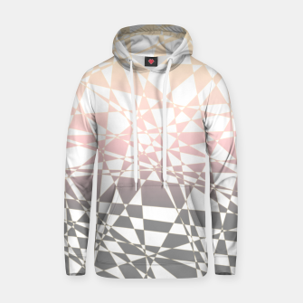 Thumbnail image of Iridescent pink to gray, delicate geometric shapes pattern Hoodie, Live Heroes