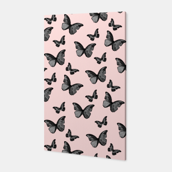 Thumbnail image of Black Blush Butterfly Glam #1 #pattern #decor #art Canvas, Live Heroes
