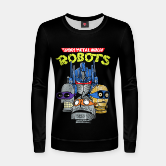 Thumbnail image of Ninja Robots Women sweater, Live Heroes
