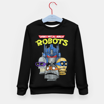 Thumbnail image of Ninja Robots Kid's sweater, Live Heroes