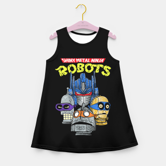 Thumbnail image of Ninja Robots Girl's summer dress, Live Heroes