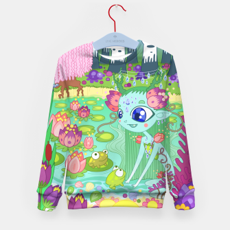 Thumbnail image of Lake-Spirit and the Frogs Kid's sweater, Live Heroes
