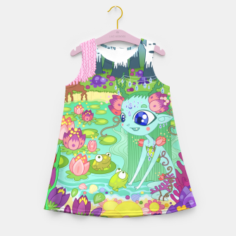 Thumbnail image of Lake-Spirit and the Frogs Girl's summer dress, Live Heroes