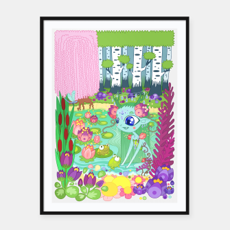 Thumbnail image of Lake-Spirit and the Frogs Framed poster, Live Heroes
