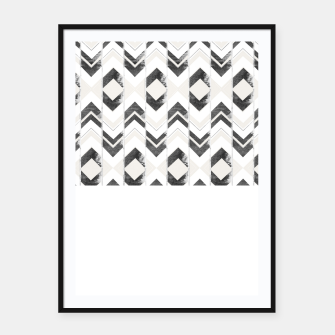 Miniaturka Tribal Boho Arrow Pattern #1 #aztec #decor #art Plakat mit rahmen, Live Heroes