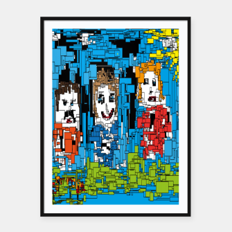 Thumbnail image of Bluesky Framed poster, Live Heroes