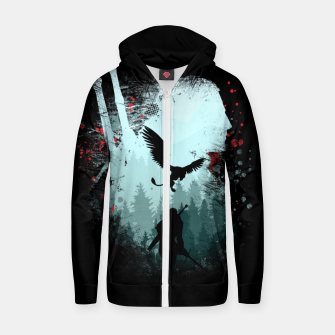 Silent Hunter Zip up hoodie thumbnail image