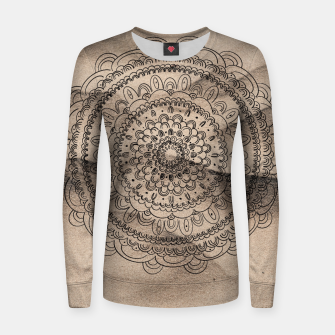 Thumbnail image of Mandala on Sand #1 #boho #wall #decor #art  Frauen sweatshirt, Live Heroes