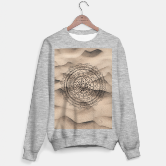Thumbnail image of Mandala on Sand #1 #boho #wall #decor #art  Sweatshirt regulär, Live Heroes