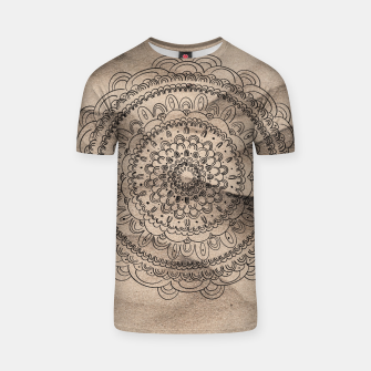 Thumbnail image of Mandala on Sand #1 #boho #wall #decor #art  T-Shirt, Live Heroes