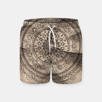 Thumbnail image of Mandala on Sand #1 #boho #wall #decor #art  Badeshorts, Live Heroes