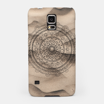 Thumbnail image of Mandala on Sand #1 #boho #wall #decor #art  Handyhülle für Samsung, Live Heroes