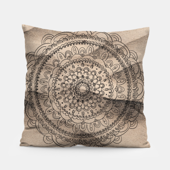 Thumbnail image of Mandala on Sand #1 #boho #wall #decor #art  Kissen, Live Heroes