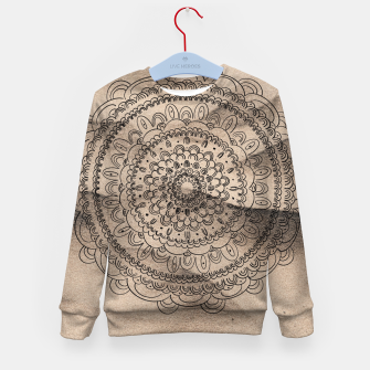 Thumbnail image of Mandala on Sand #1 #boho #wall #decor #art  Kindersweatshirt, Live Heroes