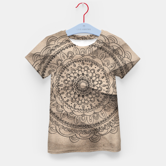 Thumbnail image of Mandala on Sand #1 #boho #wall #decor #art  T-Shirt für kinder, Live Heroes