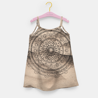 Thumbnail image of Mandala on Sand #1 #boho #wall #decor #art  Mädchenkleid, Live Heroes