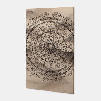 Thumbnail image of Mandala on Sand #1 #boho #wall #decor #art  Canvas, Live Heroes