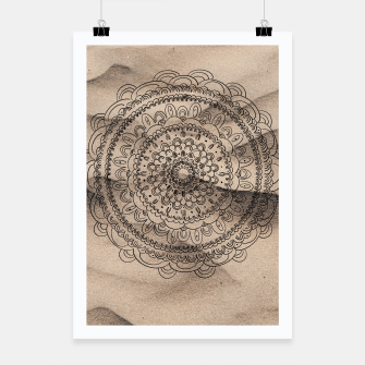 Thumbnail image of Mandala on Sand #1 #boho #wall #decor #art  Plakat, Live Heroes