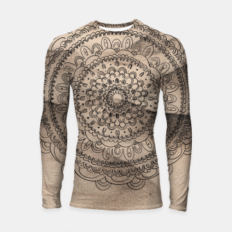 Thumbnail image of Mandala on Sand #1 #boho #wall #decor #art  Longsleeve rashguard, Live Heroes