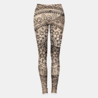 Thumbnail image of Mandala on Sand #1 #boho #wall #decor #art  Leggings, Live Heroes