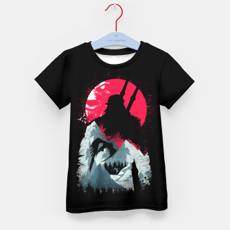 Thumbnail image of Sunset Hunt - Witcher 3 Kid's t-shirt, Live Heroes