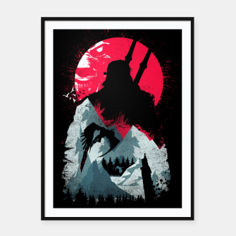 Thumbnail image of Sunset Hunt - Witcher 3 Framed poster, Live Heroes