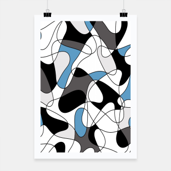 Thumbnail image of Abstract pattern - blue, gray and white. Poster, Live Heroes