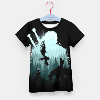 Thumbnail image of Wild Huntmans - Witcher 3 Wild Hunt - The Witcher Kid's t-shirt, Live Heroes