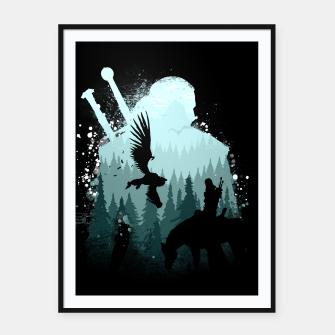 Thumbnail image of Wild Huntmans - Witcher 3 Wild Hunt - The Witcher Framed poster, Live Heroes