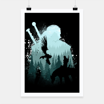 Miniatur Wild Huntmans - Witcher 3 Wild Hunt - The Witcher Poster, Live Heroes