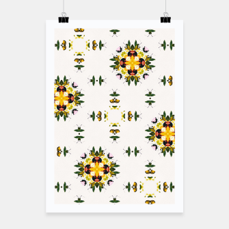Thumbnail image of Watercolor abstact yellow flowers Poster, Live Heroes
