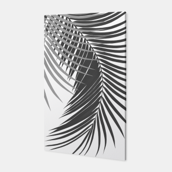 Thumbnail image of Palm Leaves Soft & Dark Gray Vibes #1 #tropical #decor #art Canvas, Live Heroes