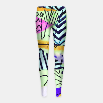 Thumbnail image of Two Worlds Girl's leggings, Live Heroes