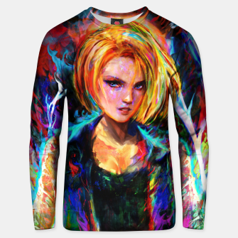 Miniaturka android 18 Unisex sweater, Live Heroes