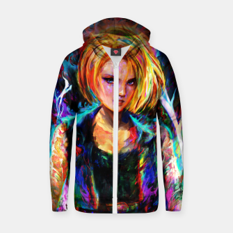 Thumbnail image of android 18 Zip up hoodie, Live Heroes