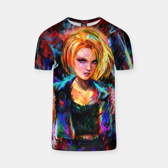 Miniaturka android 18 T-shirt, Live Heroes