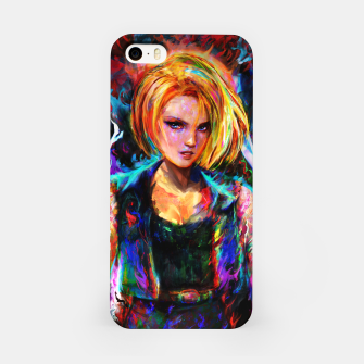 Miniaturka android 18 iPhone Case, Live Heroes