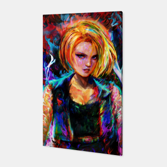 Miniaturka android 18 Canvas, Live Heroes
