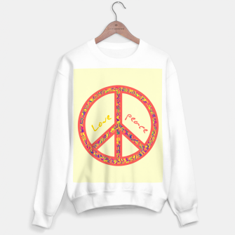 Thumbnail image of Peace and love, colorful and groovy hippie sign, 60's symbol of freedom Sweater regular, Live Heroes