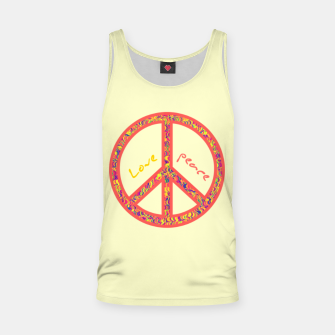 Thumbnail image of Peace and love, colorful and groovy hippie sign, 60's symbol of freedom Tank Top, Live Heroes