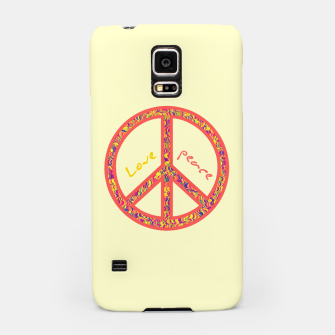 Thumbnail image of Peace and love, colorful and groovy hippie sign, 60's symbol of freedom Samsung Case, Live Heroes