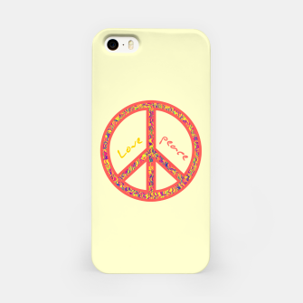 Thumbnail image of Peace and love, colorful and groovy hippie sign, 60's symbol of freedom iPhone Case, Live Heroes